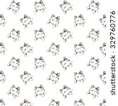 cute cartoon cats pattern. | Shutterstock .eps vector #329760776