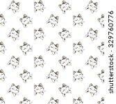 cute cartoon cats pattern. | Shutterstock .eps vector #329760776
