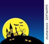 halloween night background with ... | Shutterstock .eps vector #329760995