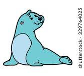 cute seal. vector illustration... | Shutterstock .eps vector #329764025