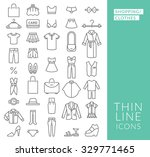 set with thin line  icons on... | Shutterstock .eps vector #329771465