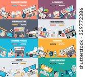 set of flat design concept for... | Shutterstock .eps vector #329772386