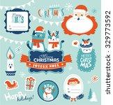 set of christmas design elements | Shutterstock .eps vector #329773592