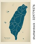 modern map   taiwan with...   Shutterstock .eps vector #329779376