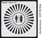 bathroom sign | Shutterstock .eps vector #329782346