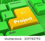 project management button on... | Shutterstock . vector #329783792