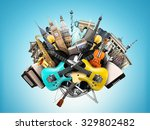 music collage  musical... | Shutterstock . vector #329802482