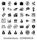 money icons set | Shutterstock .eps vector #329804018