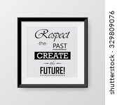 black frame with quote... | Shutterstock .eps vector #329809076