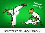 traditional brazilian capoeira...   Shutterstock .eps vector #329810222
