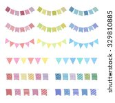 set of colorful garlands  ... | Shutterstock .eps vector #329810885