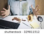 coffee on the desk | Shutterstock . vector #329811512
