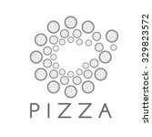circle of pizza vector design... | Shutterstock .eps vector #329823572