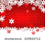 christmas red background | Shutterstock .eps vector #329833712