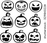 halloween pumpkin | Shutterstock .eps vector #329843228