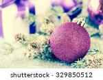Purple Christmas Bauble With...