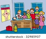 cpr class | Shutterstock .eps vector #32985937