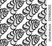 seamless floral doodle... | Shutterstock . vector #329866202