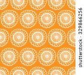 seamless floral doodle... | Shutterstock . vector #329866256
