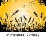 grunge grass and ears  vector...   Shutterstock .eps vector #3298687