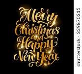 vector golden text on black... | Shutterstock .eps vector #329870315