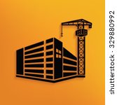 construction building on yellow ... | Shutterstock .eps vector #329880992