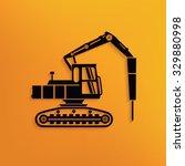 drill car construction on... | Shutterstock .eps vector #329880998
