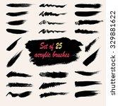 set of 25 vector grunge brushes ... | Shutterstock .eps vector #329881622