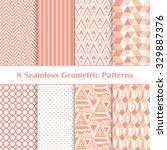 set of 8 seamless geometric... | Shutterstock .eps vector #329887376