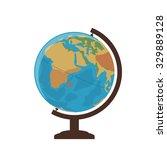 school globe on a white... | Shutterstock .eps vector #329889128