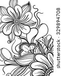 Floral Doodle For Coloring Page ...