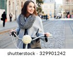 lovely young woman  wearing in... | Shutterstock . vector #329901242