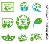 organic products  eco logo ... | Shutterstock .eps vector #329907692