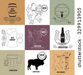 set of beer logo templates and...   Shutterstock .eps vector #329913905