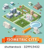build your own isometric city.... | Shutterstock .eps vector #329915432