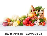 fresh vegetables and fruit in... | Shutterstock . vector #329919665