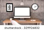 digital generated workspace... | Shutterstock . vector #329926832