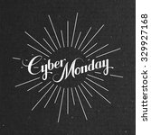 cyber monday sale label on the... | Shutterstock .eps vector #329927168