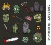 vector illustration. hand... | Shutterstock .eps vector #329935082