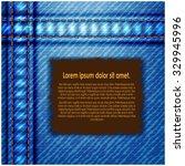denim texture with label text | Shutterstock .eps vector #329945996