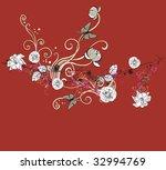 illustration of a decorative... | Shutterstock .eps vector #32994769