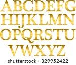 alphabet gold letters vector | Shutterstock .eps vector #329952422
