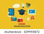 illustration of e learning... | Shutterstock .eps vector #329955872