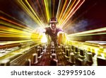 dj on turntables | Shutterstock . vector #329959106