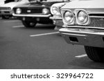 photograph of classic vehicles... | Shutterstock . vector #329964722