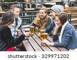 group of friends enjoying a...   Shutterstock . vector #329971202