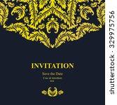 vintage floral card template.... | Shutterstock .eps vector #329975756