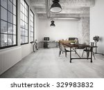 contemporary workplace in a... | Shutterstock . vector #329983832