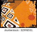 the ethnic vector retro grunge...   Shutterstock .eps vector #32998531