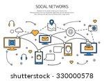 social network outline concept... | Shutterstock .eps vector #330000578